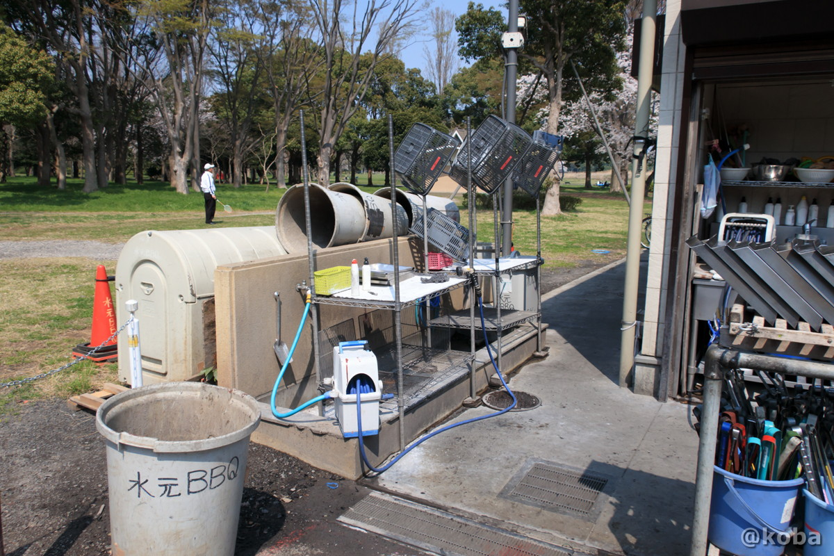 管理者専用の洗い場(一般人は使用不可)バーベキュー広場 │水元公園│こばフォトブログ@koba