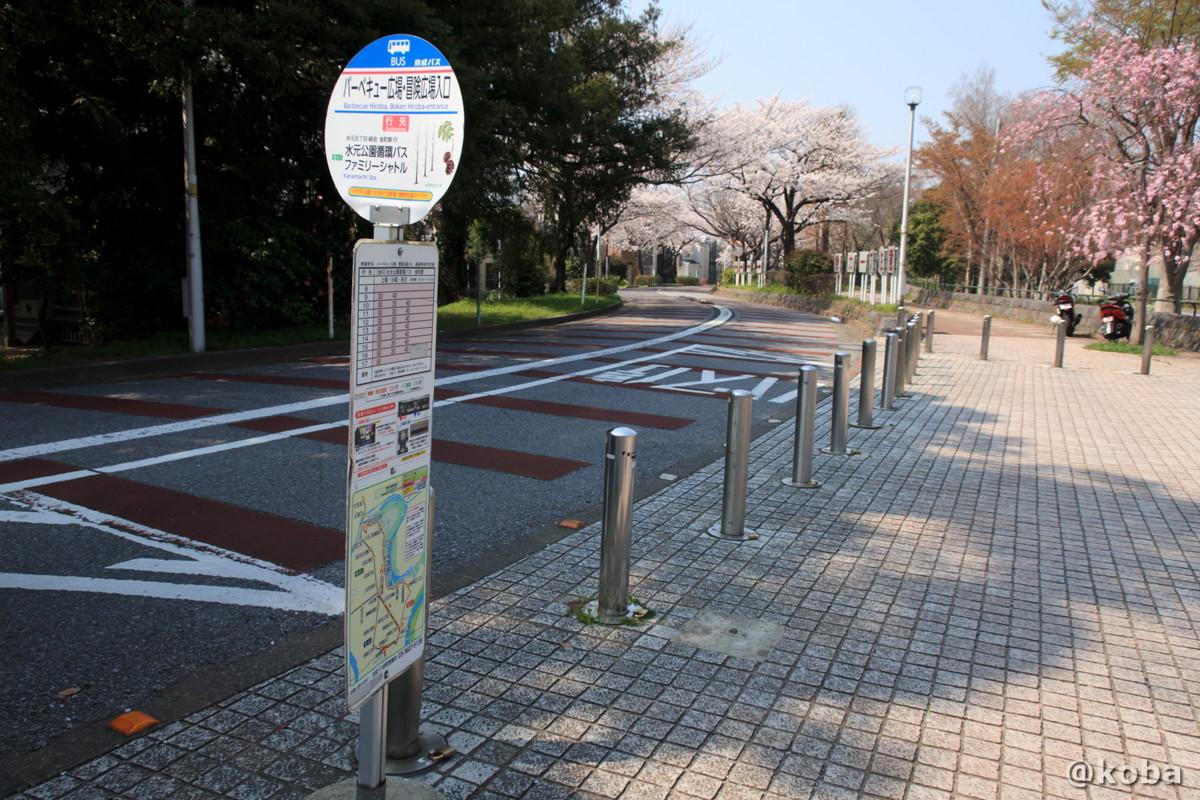 バス停 循環バス  バーベキュー広場・冒険広場入口│水元公園│こばフォトブログ@koba