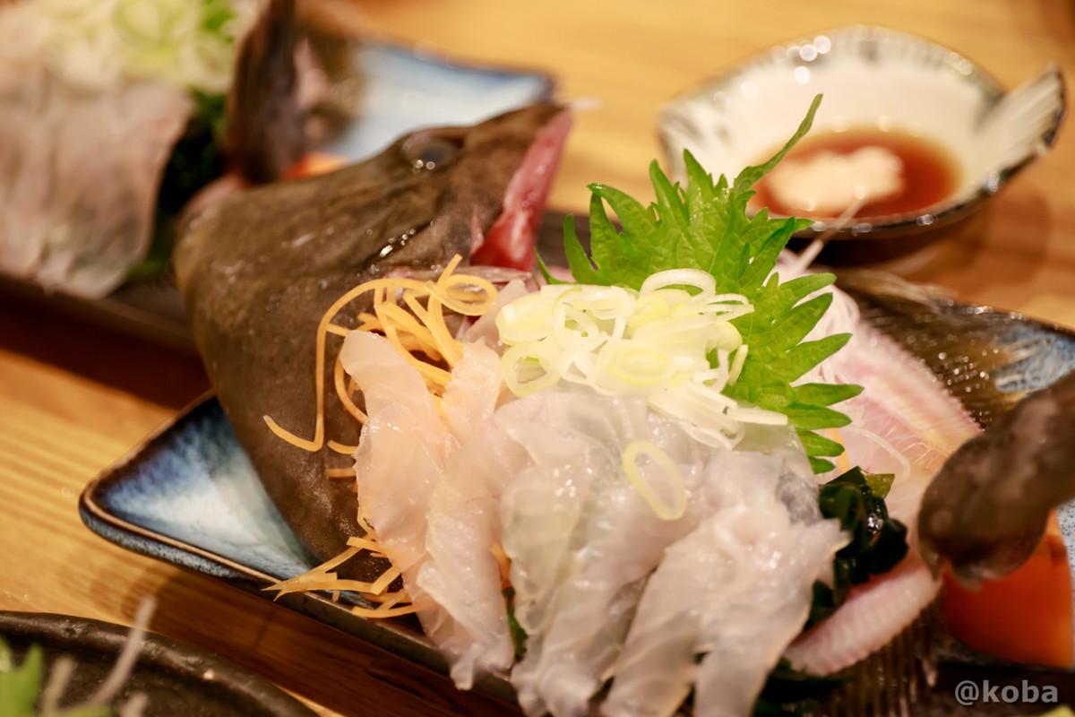 カワハギの刺身 安くて美味い!│大衆割烹 ゑびす(えびす)│居酒屋・海鮮料理│東京葛飾区・四ツ木駅(四つ木)│こばフォトブログ@koba