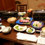 法師温泉 長寿館「夕食」お肉プラン♪
