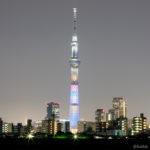 東京スカイツリー「アベンジャーズ/インフィニティ・ウォー」葛飾区 四ツ木より