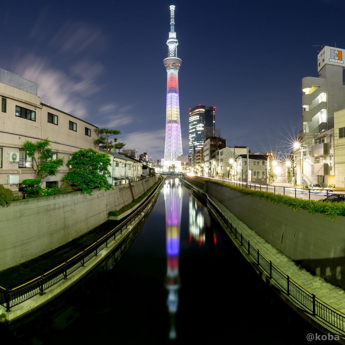 東京スカイツリー│ももいろクローバーZ結成10周年記念 特別ライティング│十間橋(じゅっけんばし)│こばフォトブログ│@koba