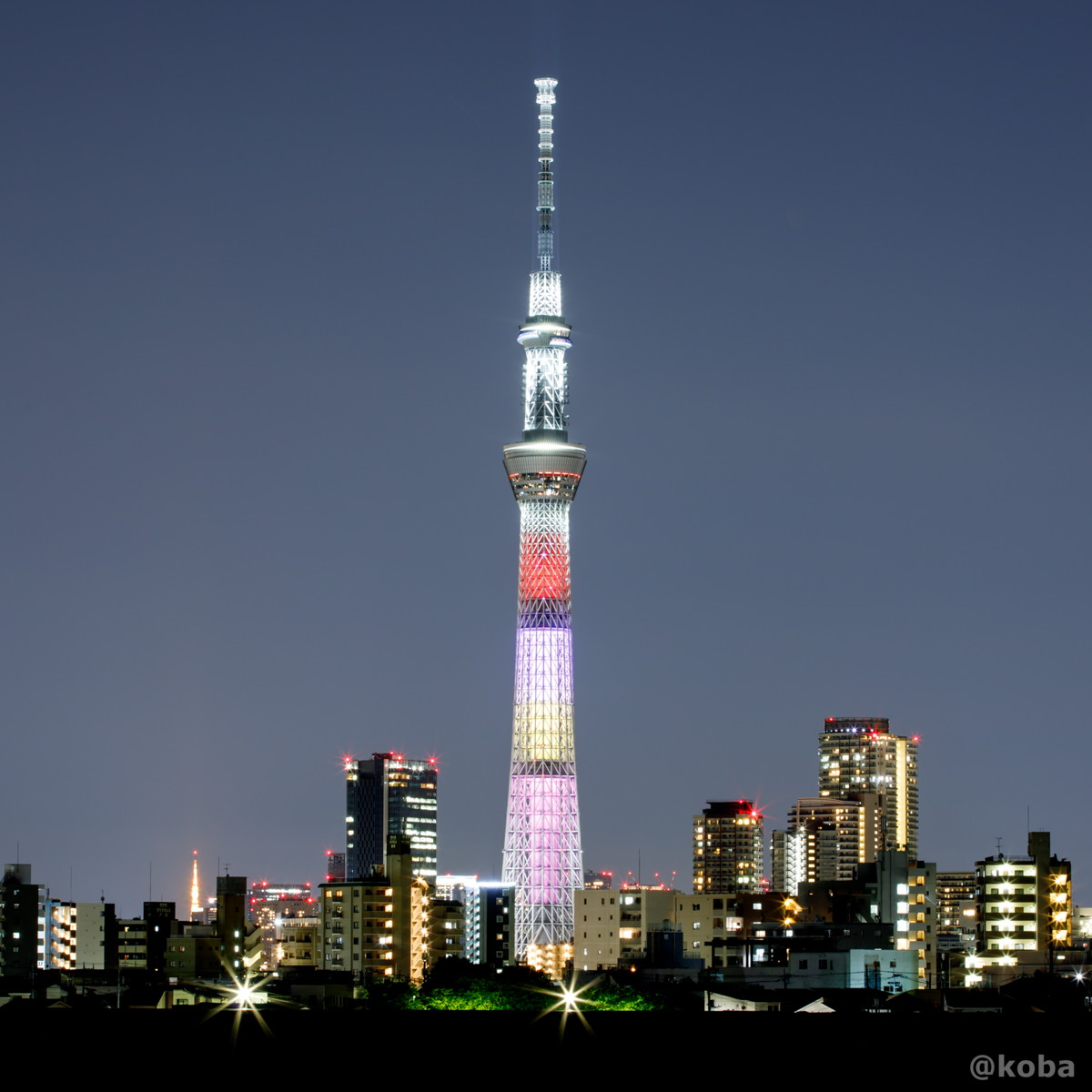 東京スカイツリー│ももいろクローバーZ結成10周年記念 特別ライティング│葛飾区 四ツ木(四つ木 よつぎ)│こばフォトブログ│@koba
