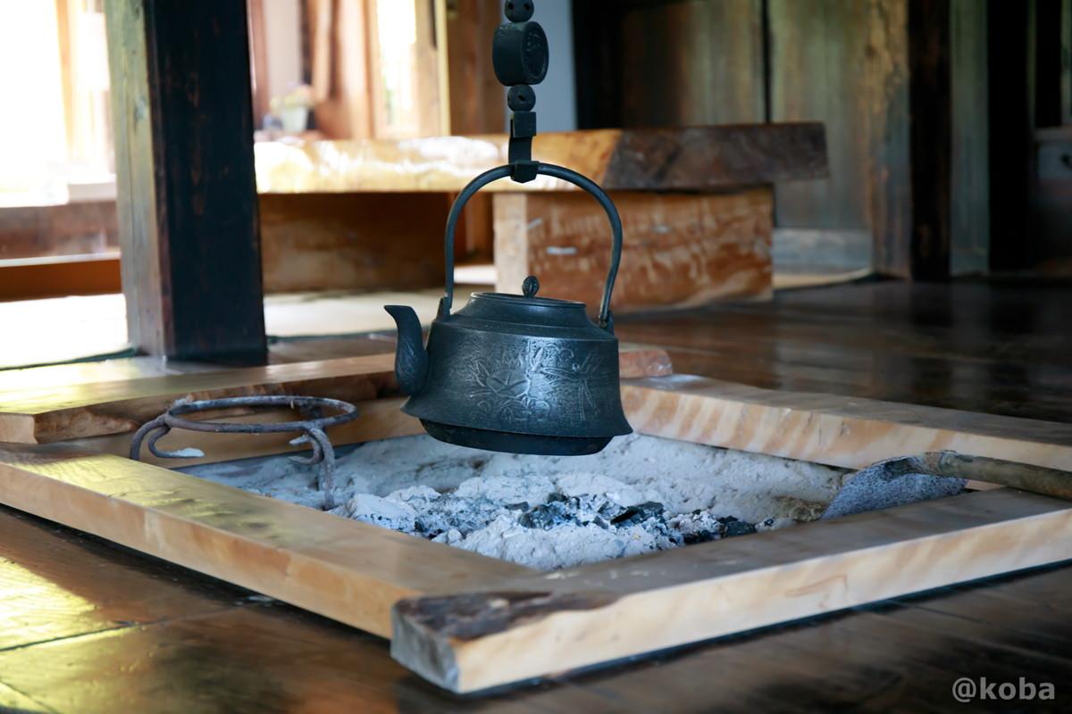 囲炉裏│たくみの里 四季の家(しきのいえ)│古民家 蕎麦ランチ│群馬県│こばフォトブログ@koba