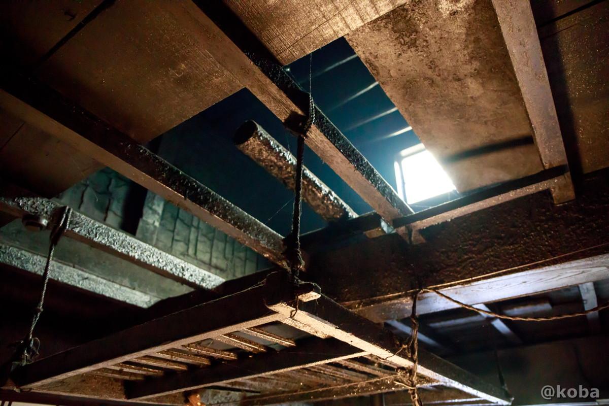 囲炉裏の天井 法師温泉 長寿館 群馬県