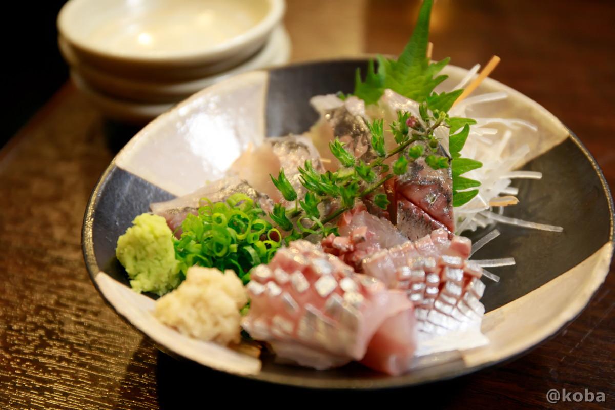 釣りアジ刺 750円 どんきい 和食 鹿の子 かのこ切り 葛飾区 新小岩 ブログ