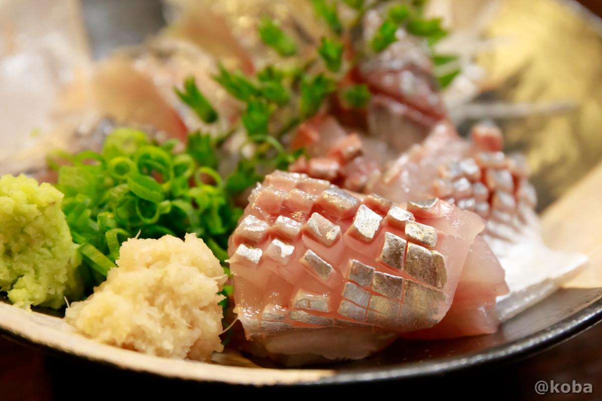釣り鯵の刺身 美しい! どんきい 和食 魚河岸料理 活魚 居酒屋 新小岩
