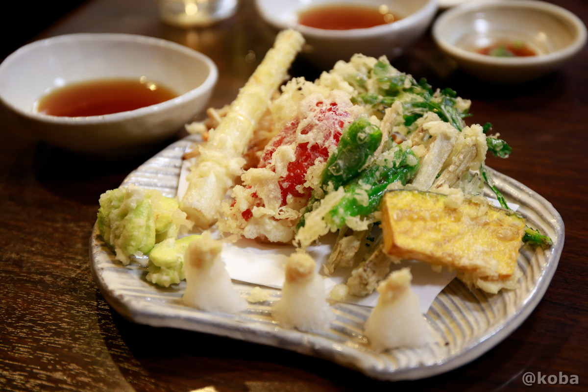 野菜天 750円 どんきい 和食 居酒屋 新小岩