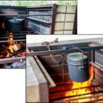 炉を使ってカレーライス 飯盒炊飯 若洲公園キャンプ場 東京BBQ