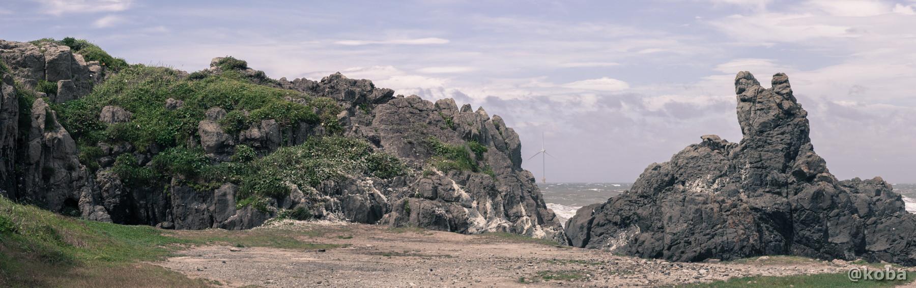 千葉 銚子 犬岩(いぬいわ)パノラマ写真 panorama