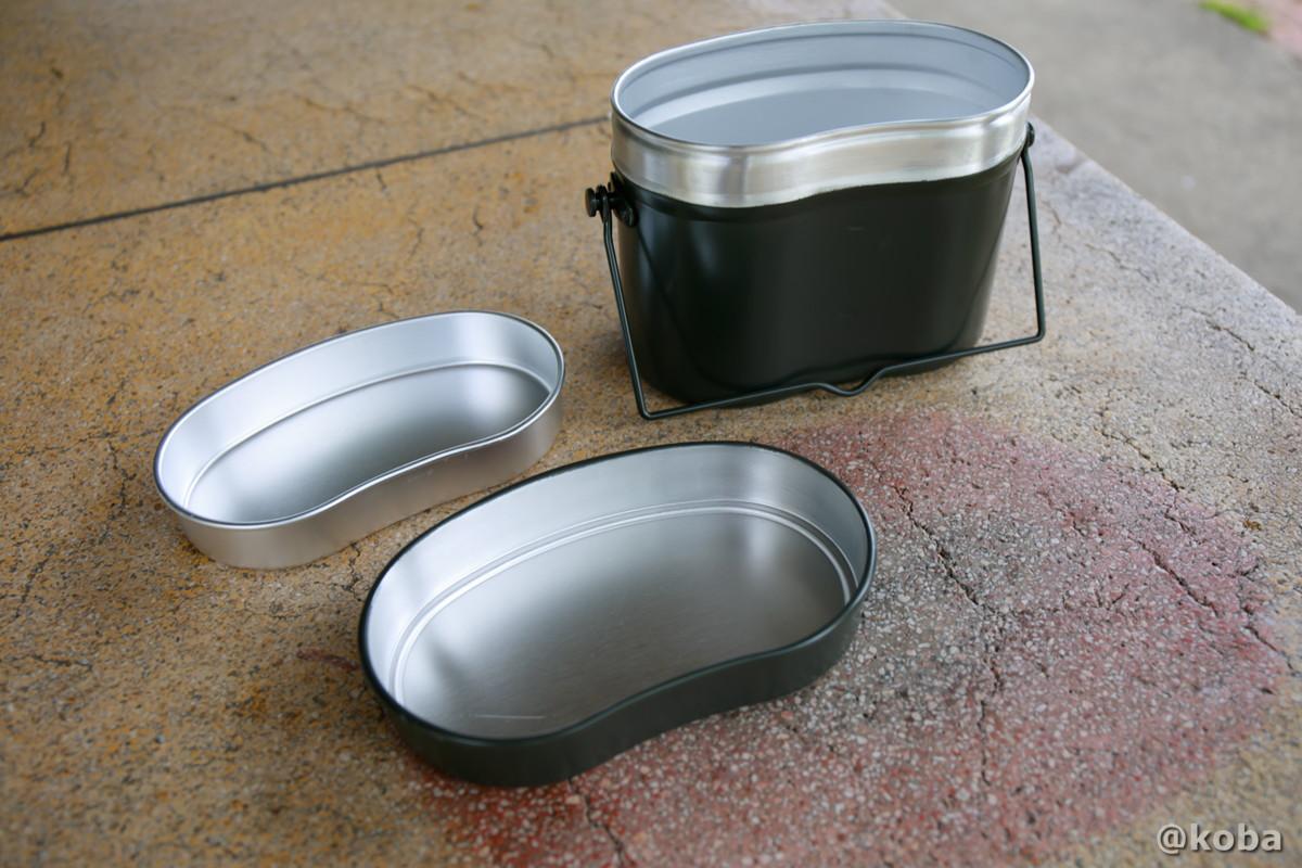 兵式飯盒の写真 兵式飯盒 4合まで炊ける飯盒です