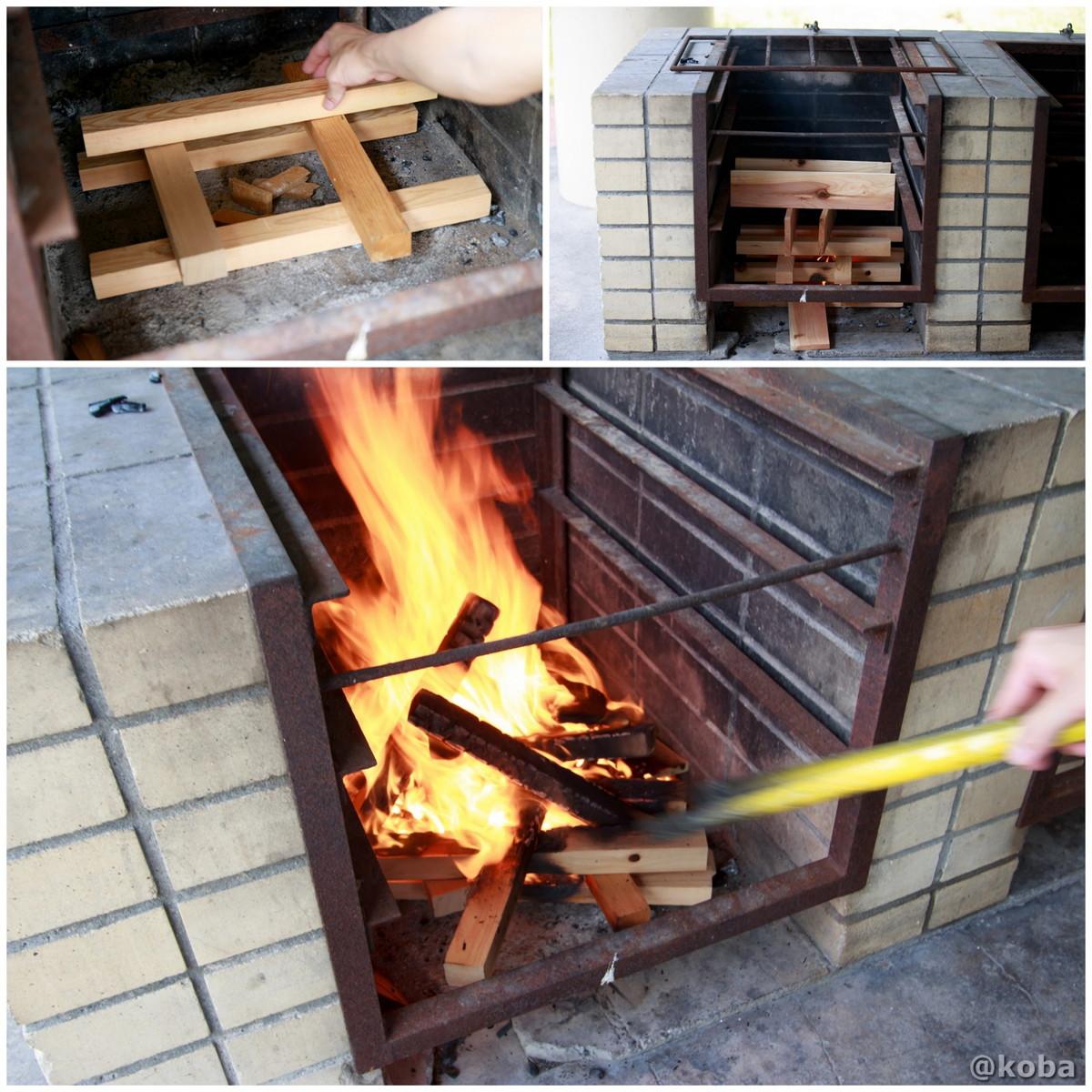 炉 火起こし 若洲公園キャンプ場 江東区 東京バーベキュー