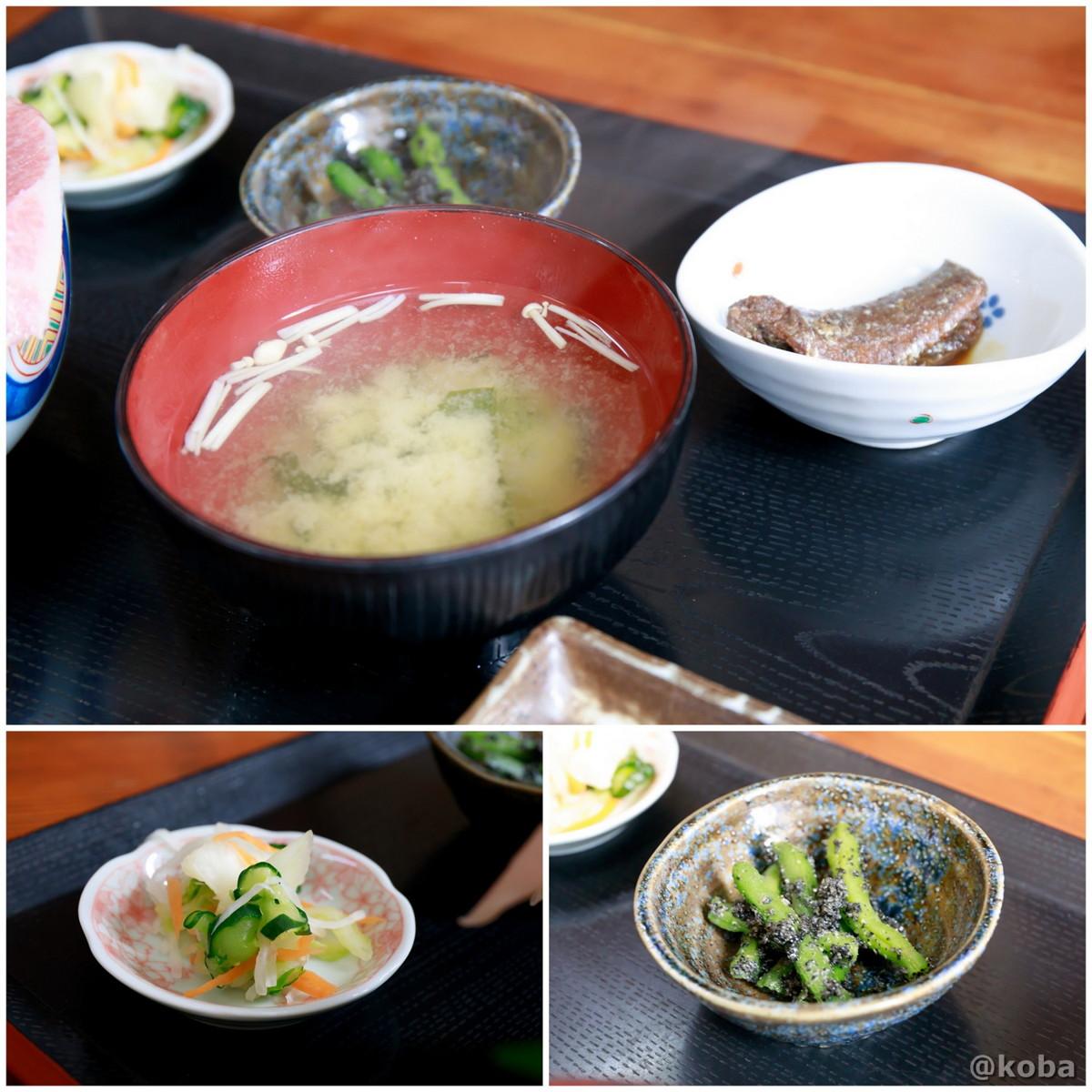 味噌汁 小鉢2皿 お新香 浜めし(はまめし) 食事処 銚子 ブログ