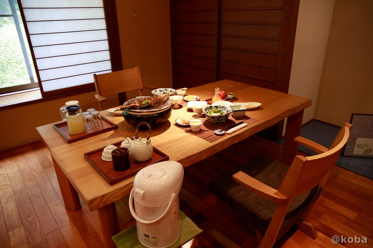 朝食の写真 内山峠 初谷温泉(うちやまとうげ しょやおんせん) 長野県佐久市 日本秘湯を守る会