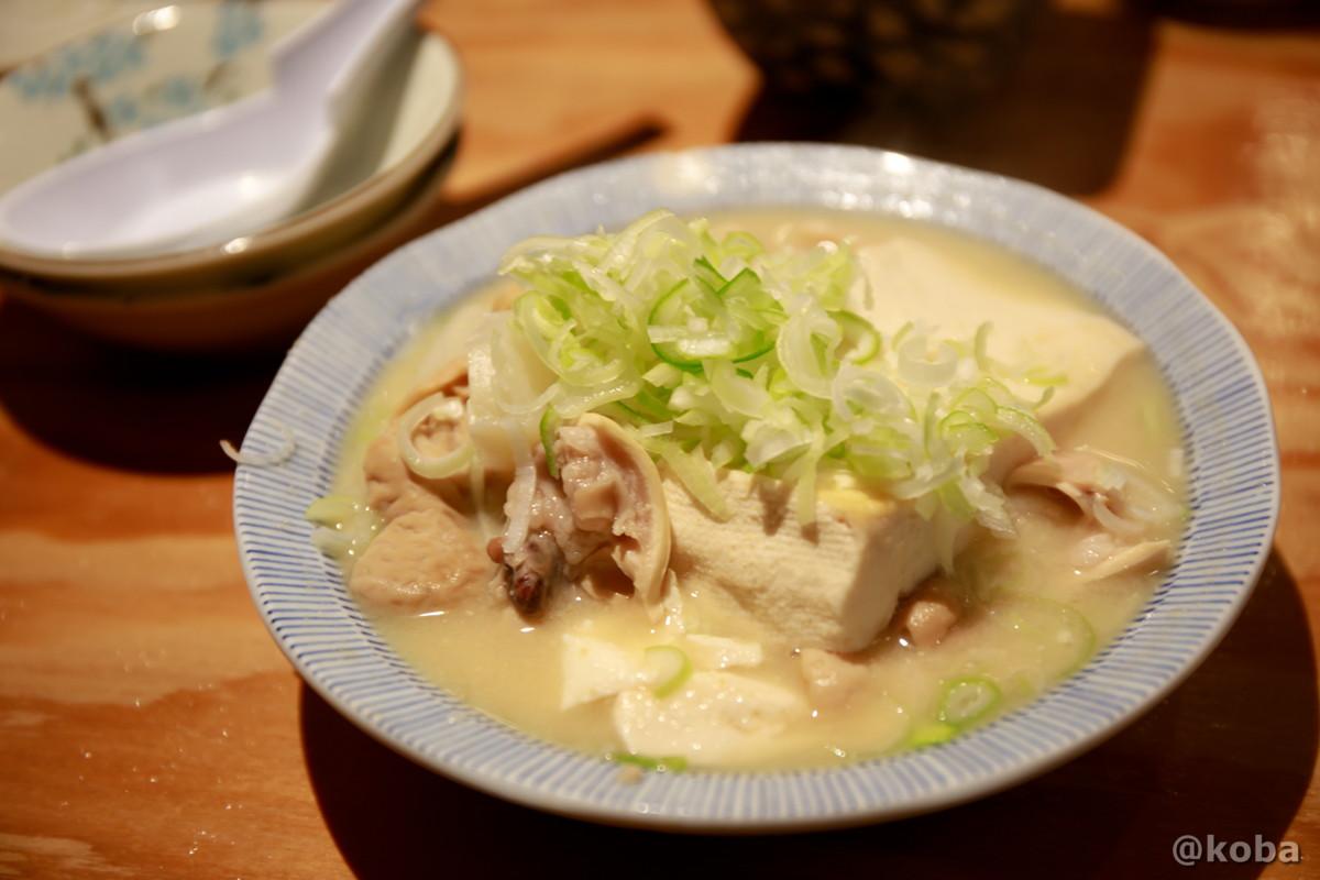 もつ煮(大) 350円 ニンニクがきいてて美味しいー♪ 青砥 小江戸(こえど) もつ焼き 居酒屋