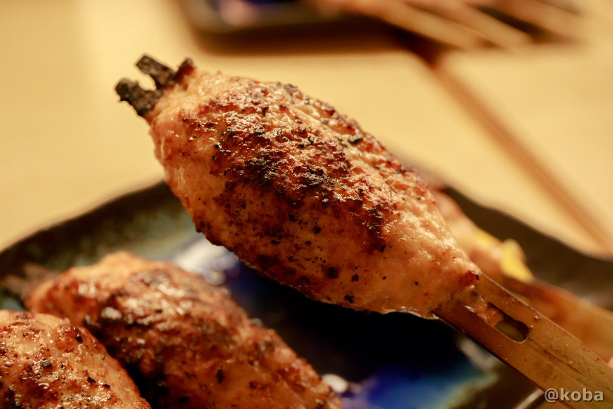 つくね 肉汁半端ない!美味しい! 人形町 江戸路(えどじ)焼鳥専門店