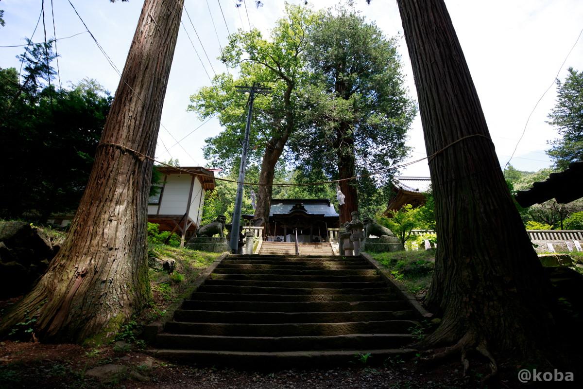 階段 新海三社神社 長野県佐久市