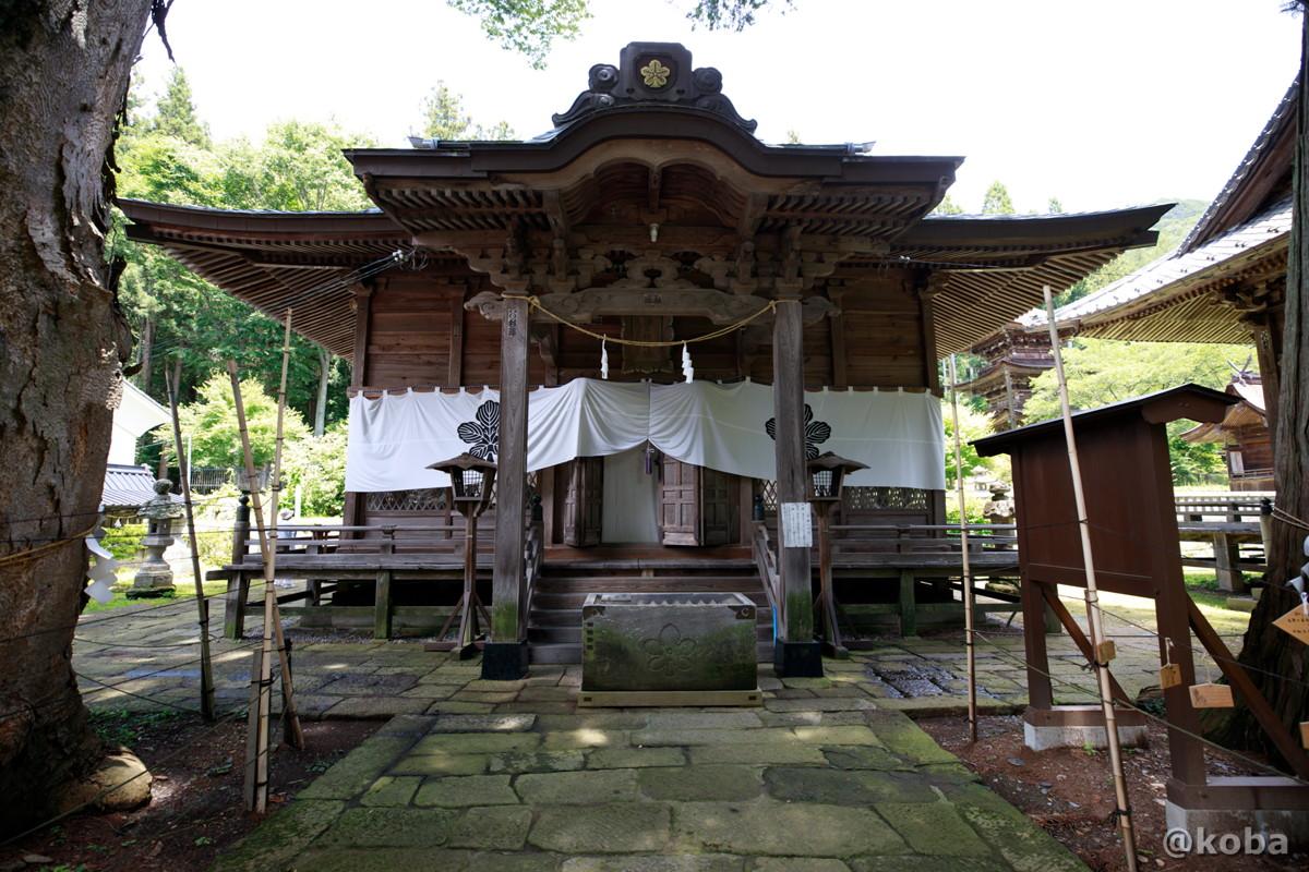 拝殿 新海三社神社 長野県佐久市