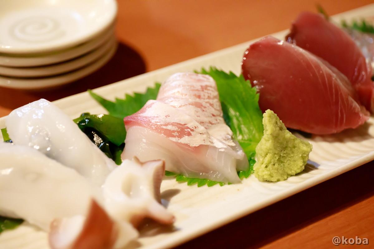 北海生ダコ,黒ダイ,カツオ 錦糸町 しゅはり 石臼挽きうどん 和食 東京