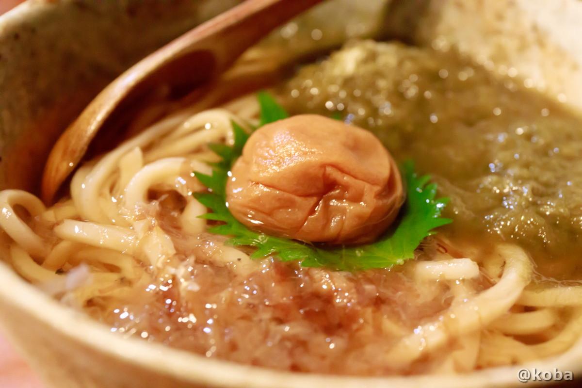 冷やし梅とろろ昆布うどん 錦糸町 しゅはり 石臼挽きうどん 和食 東京