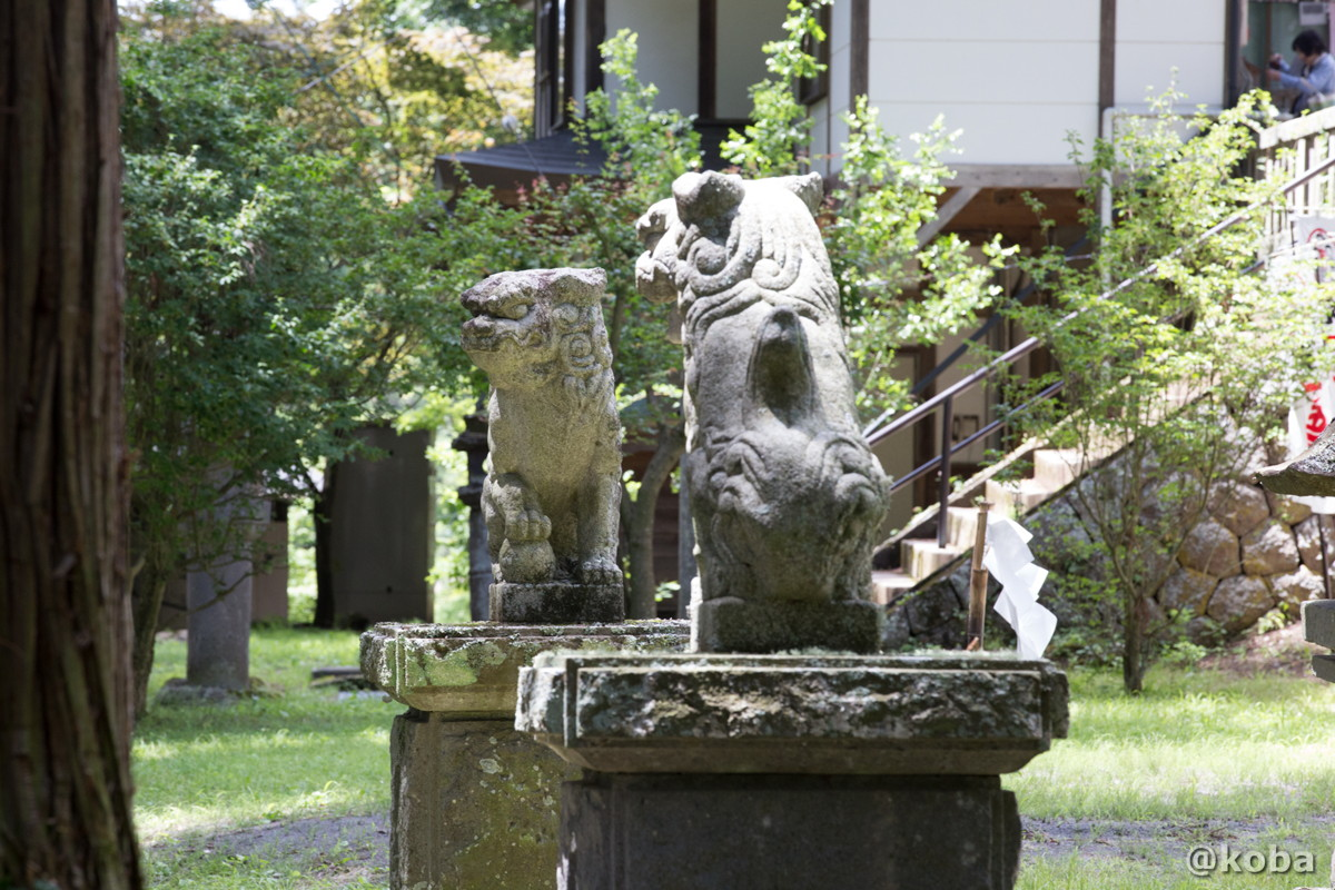 狛犬 新海三社神社 長野県佐久市