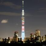 東京スカイツリー「ウォーリーをさがせ」葛飾区 四ツ木より