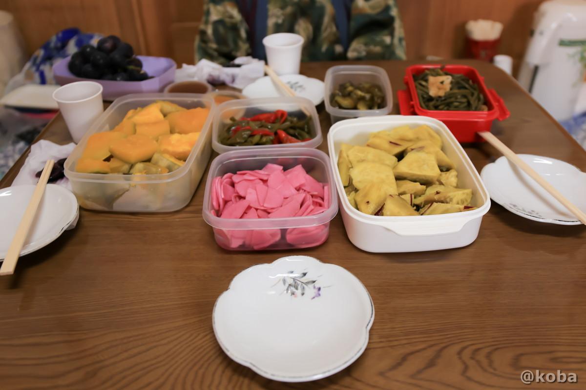 漬物や煮物の写真 開運の湯(かいうんのゆ)日帰り入浴 栃木 日光 ブログ