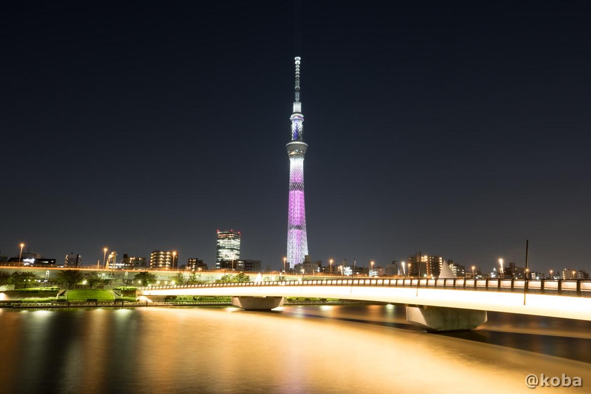 ピンクリボン 東京スカイツリー 台東区 桜橋より
