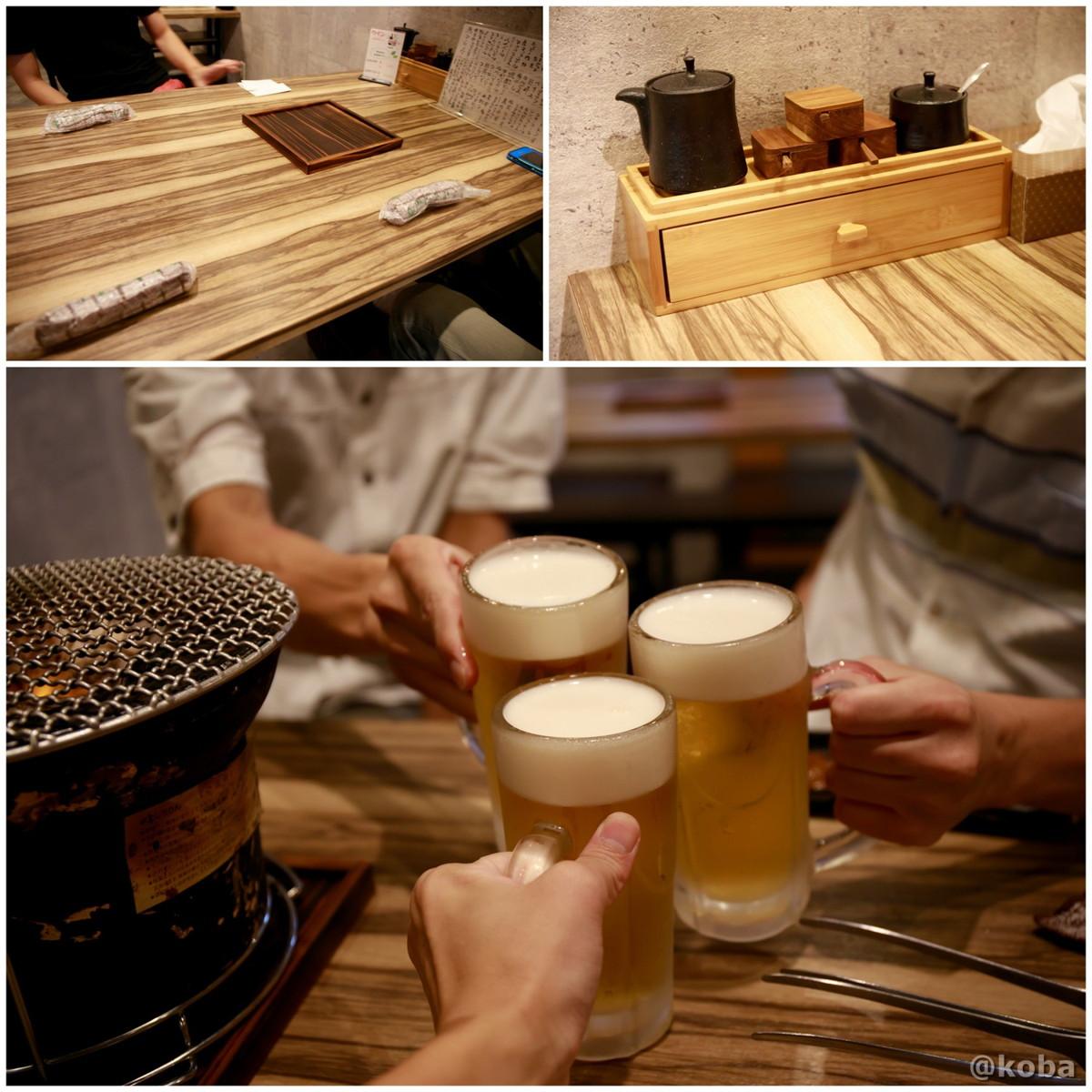 サッポロ黒ラベル 生ビールの写真 490円×3 和敬 (わけい)ホルモン 焼肉 東京都葛飾区・立石 ブログ