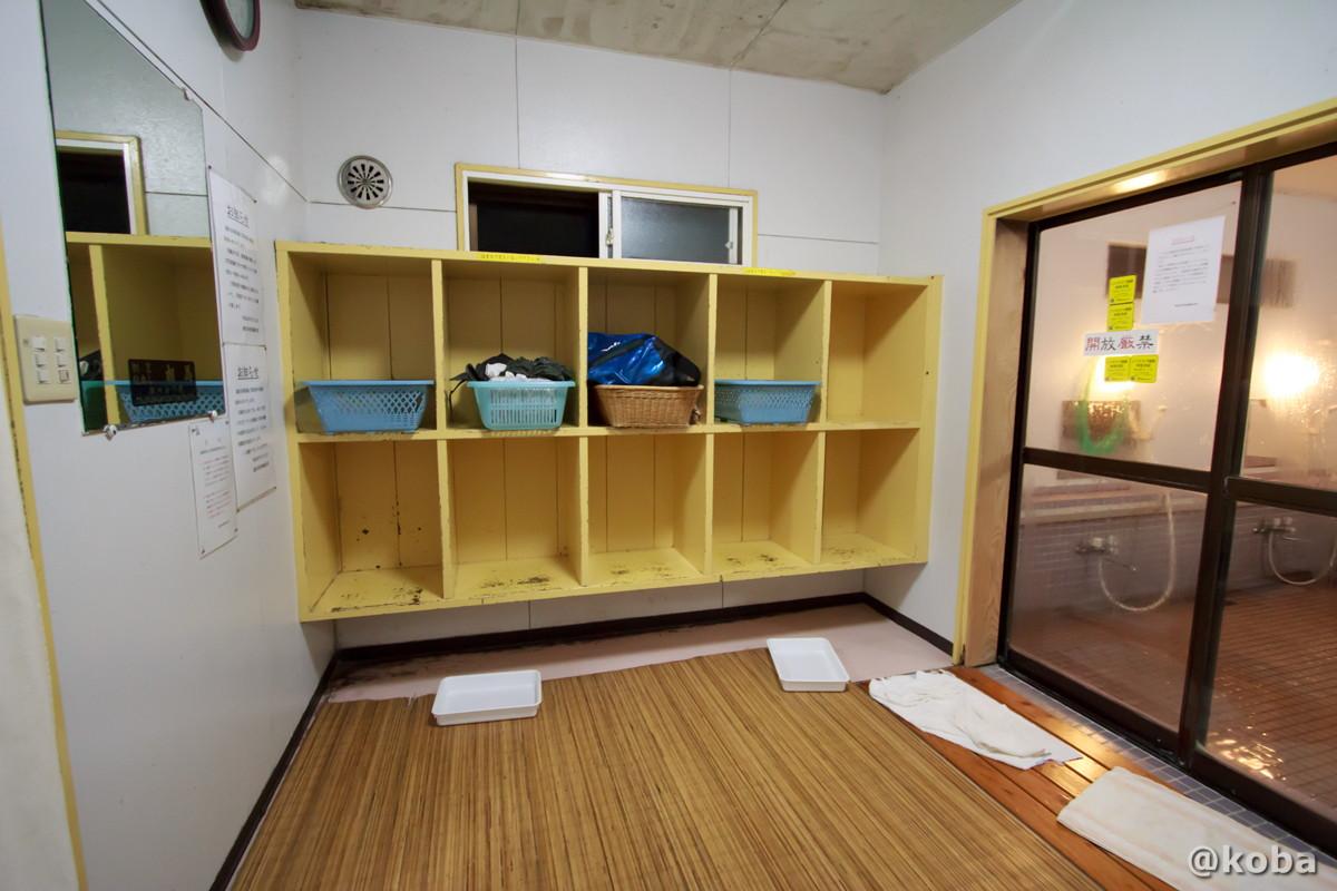 脱衣場の写真│湯沢共同浴場(ゆざわきょうどうよくじょう)│新潟県 温泉ブログ