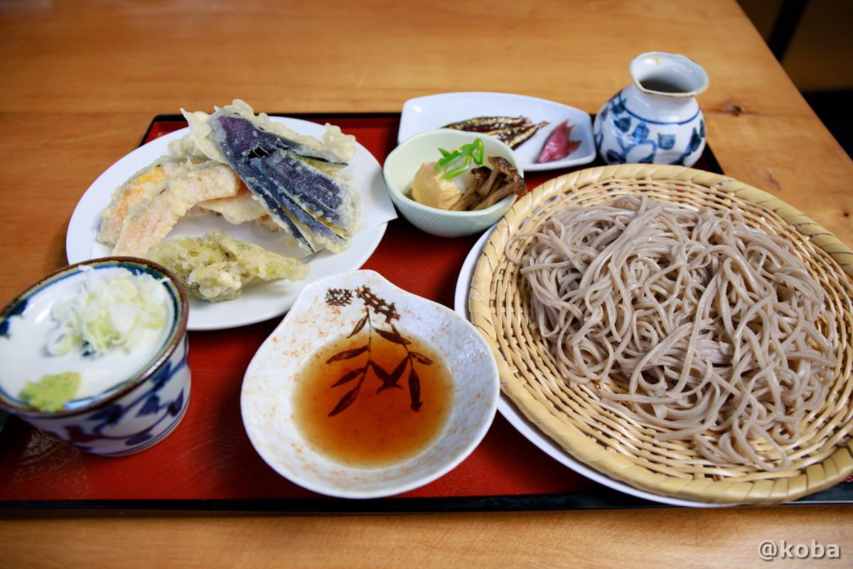 手打ち 天ざるそば 1,620円の写真 そば処たかさわ 蕎麦ランチ 食事処 長野県 ブログ