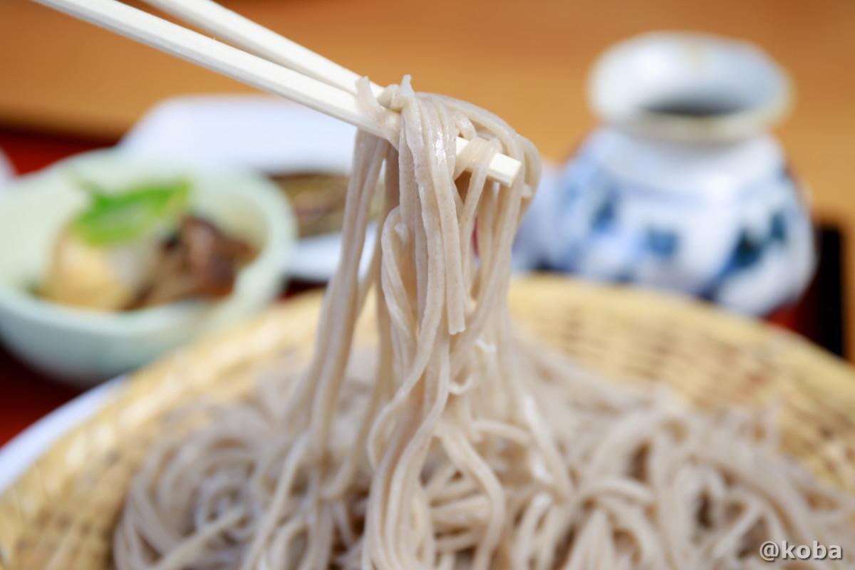 蕎麦、麺上げの写真 そば処たかさわ 蕎麦ランチ 食事処 長野県 ブログ