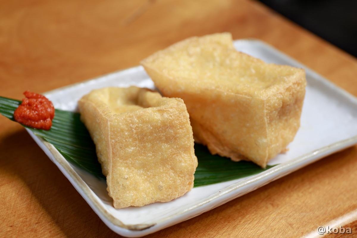 厚揚げ 270円の写真 そば処たかさわ 蕎麦ランチ 食事処 長野県 ブログ