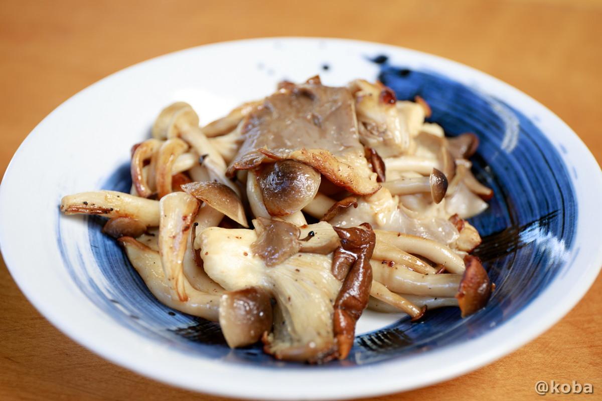 きのこバター炒め 310円の写真 そば処たかさわ 蕎麦ランチ 食事処 長野県 ブログ