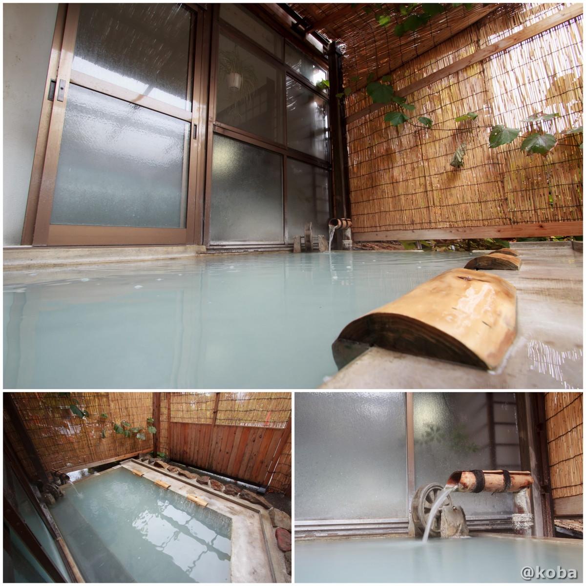 3人分の湯枕、小さい外風呂の写真 燕温泉 樺太館(つばめおんせん からふとかん)新潟県 妙高市