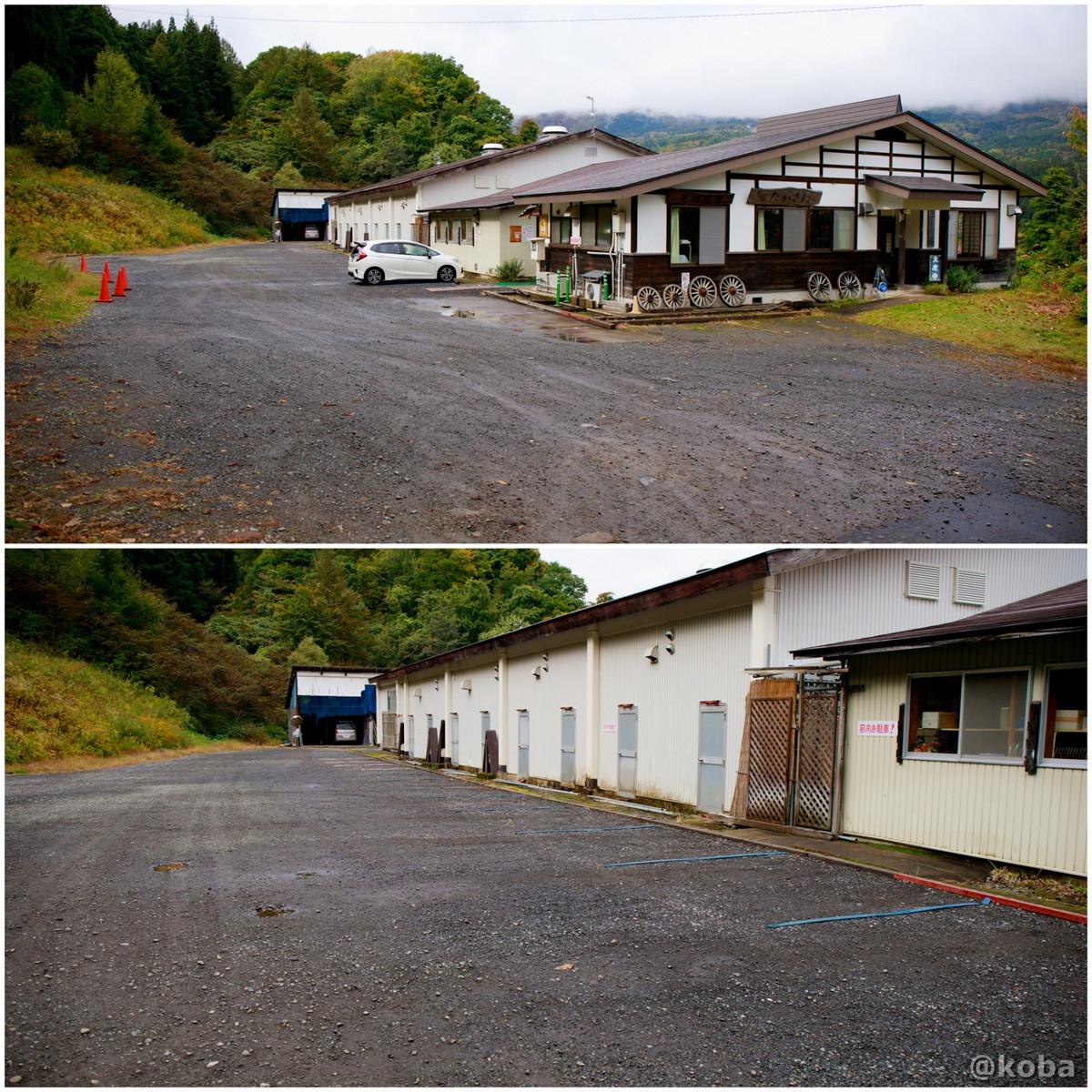駐車場の写真 そば処たかさわ 住所:長野県上水内郡信濃町野尻2195−1