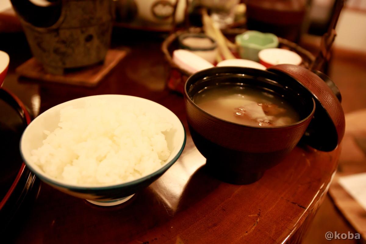 ご飯とお味噌汁の写真 燕温泉 樺太館(つばめおんせん からふとかん)新潟県 妙高市