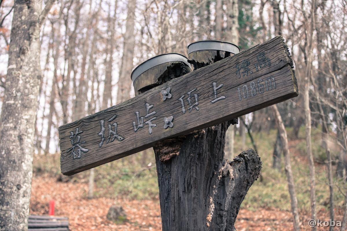 頂上 標高1,086メートル│暮坂峠(くれさかとうげ)│群馬県 ブログ