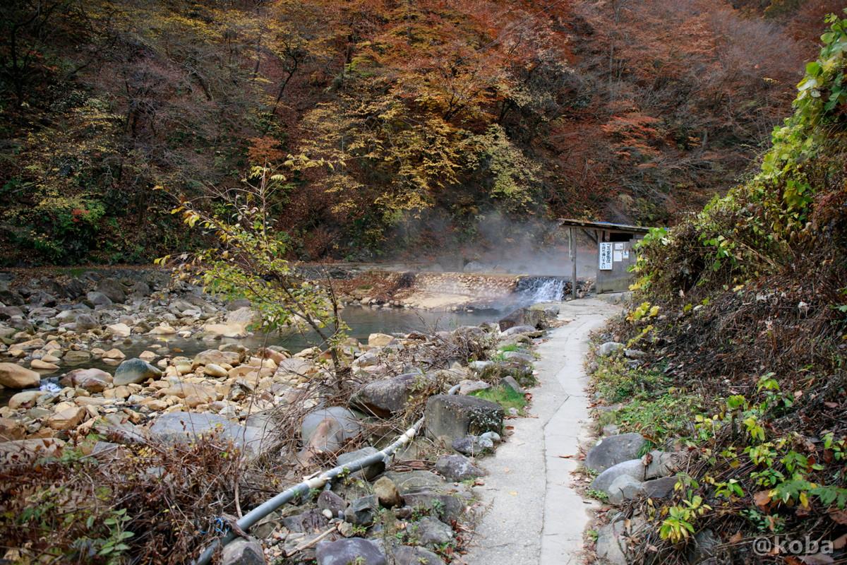 通路の写真│尻焼温泉(しりやきおんせん)川の湯 日帰り入浴│群馬県 ブログ