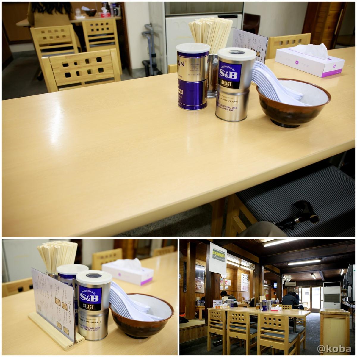 内観 テーブル席の写真│坂内食堂(ばんないしょくどう)本店 らーめん│福島県 喜多方ブログ