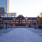日の出の写真│朝の東京駅・丸の内側