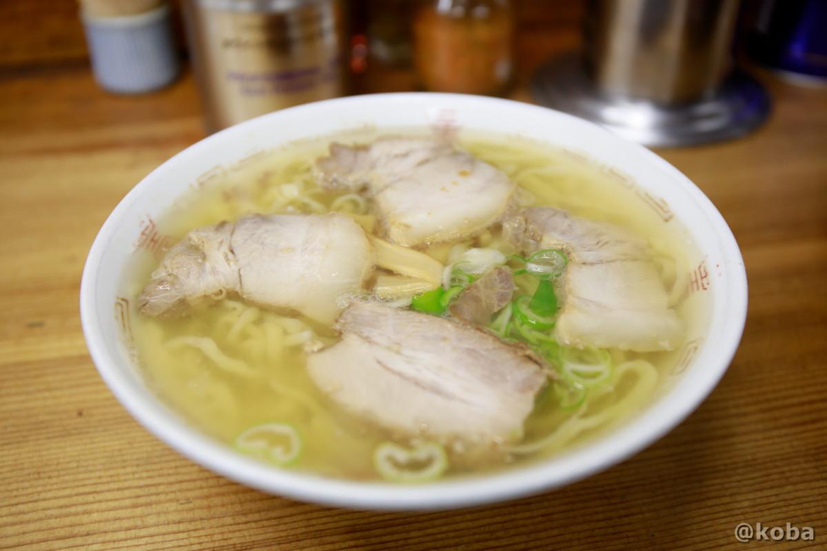 喜多方ラーメン 支那そば 650円、旨味のある、あっさり塩スープの写真│坂内食堂(ばんないしょくどう)本店 らーめん│福島県 喜多方ブログ