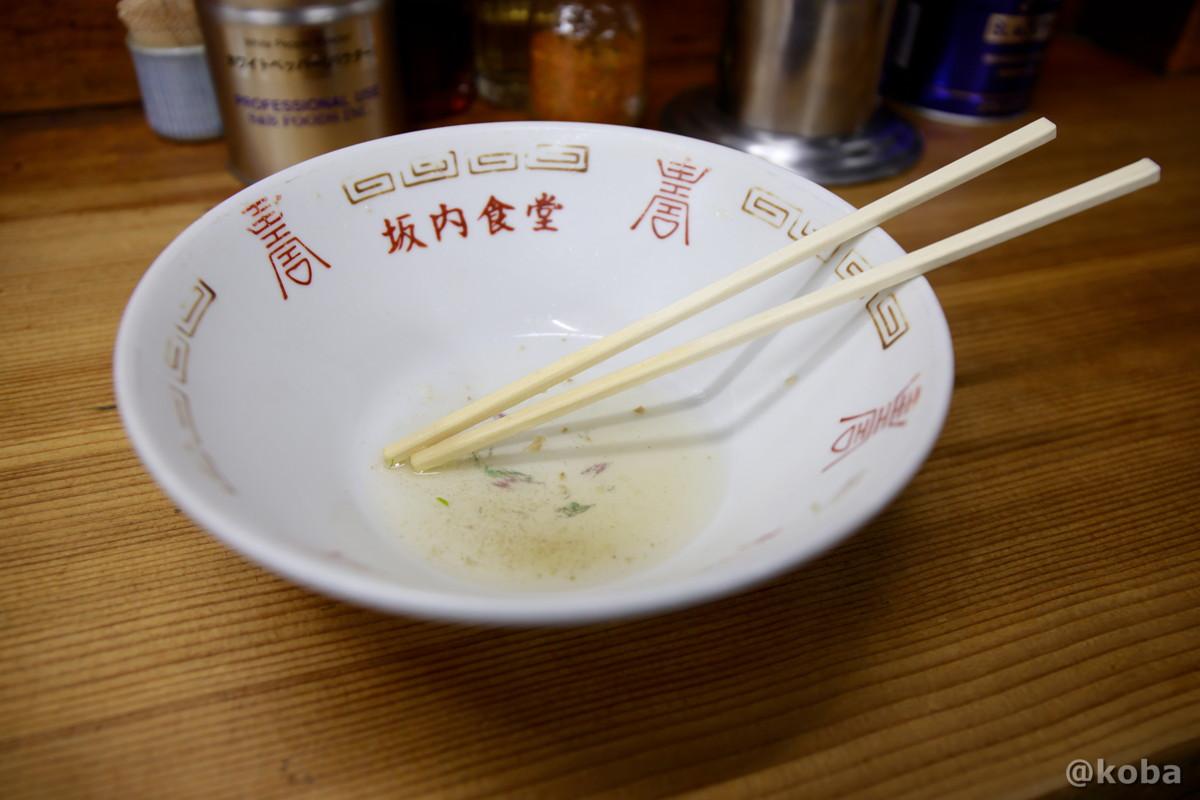 完食した丼ぶりの写真│坂内食堂(ばんないしょくどう)本店 らーめん│福島県 喜多方ブログ