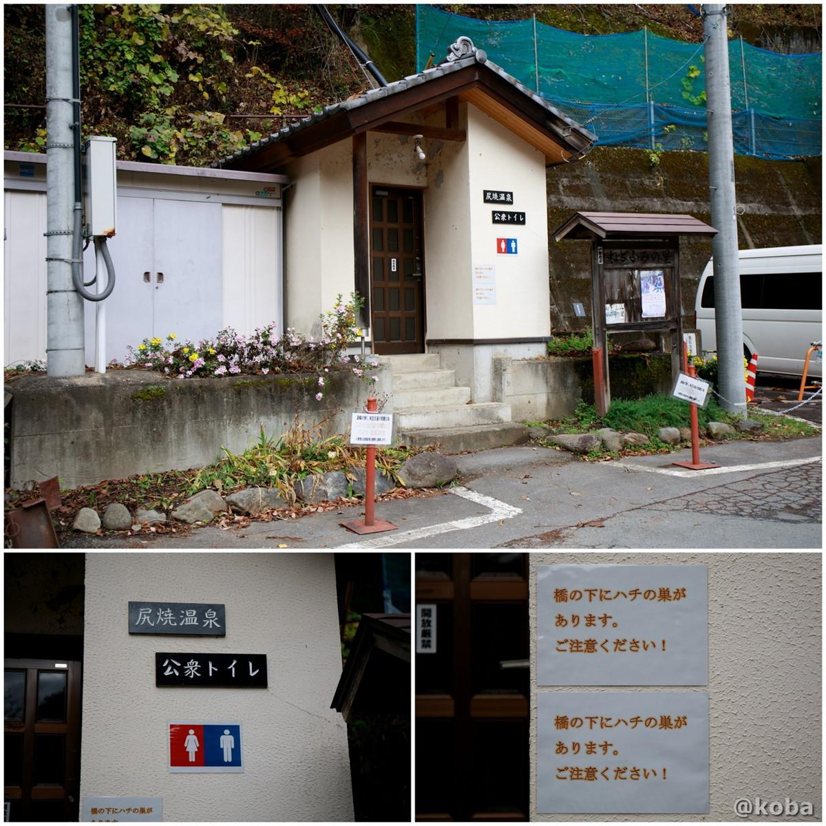 公衆トイレの写真│尻焼温泉(しりやきおんせん)川の湯 日帰り入浴│群馬県 ブログ