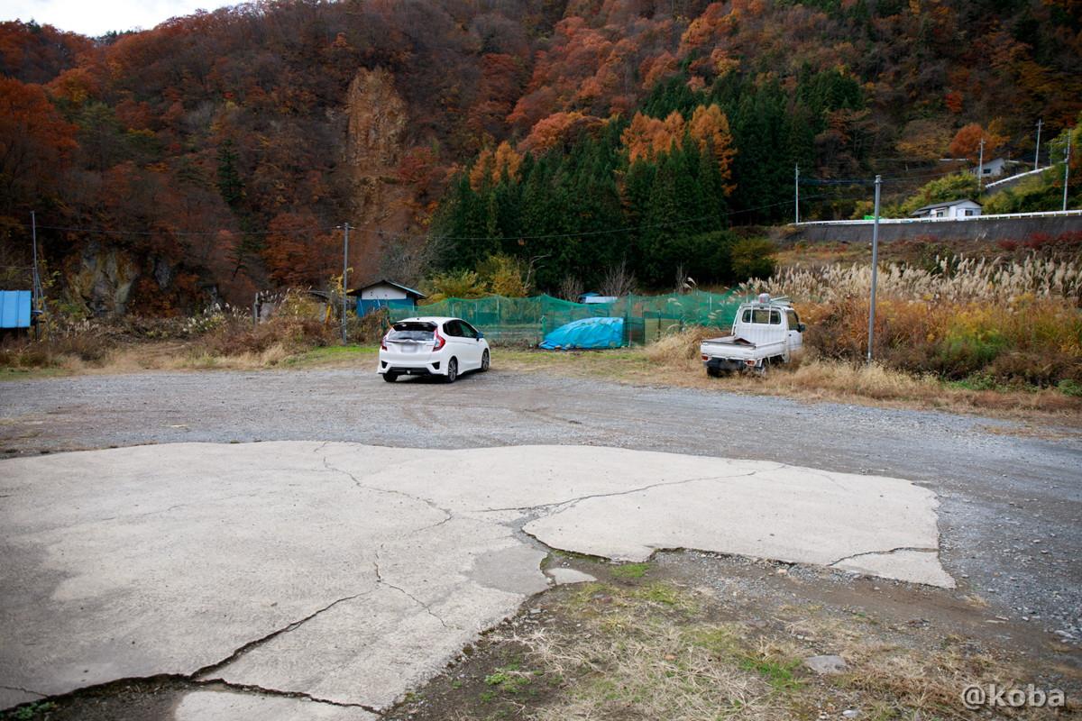 駐車場の写真│京塚温泉・しゃくなげの湯 日帰り入浴│群馬県 ブログ