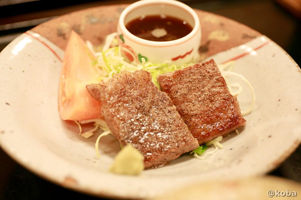 上州牛の一口ステーキの写真│たんげ温泉 美郷館(みさとかん)│群馬県 吾妻郡