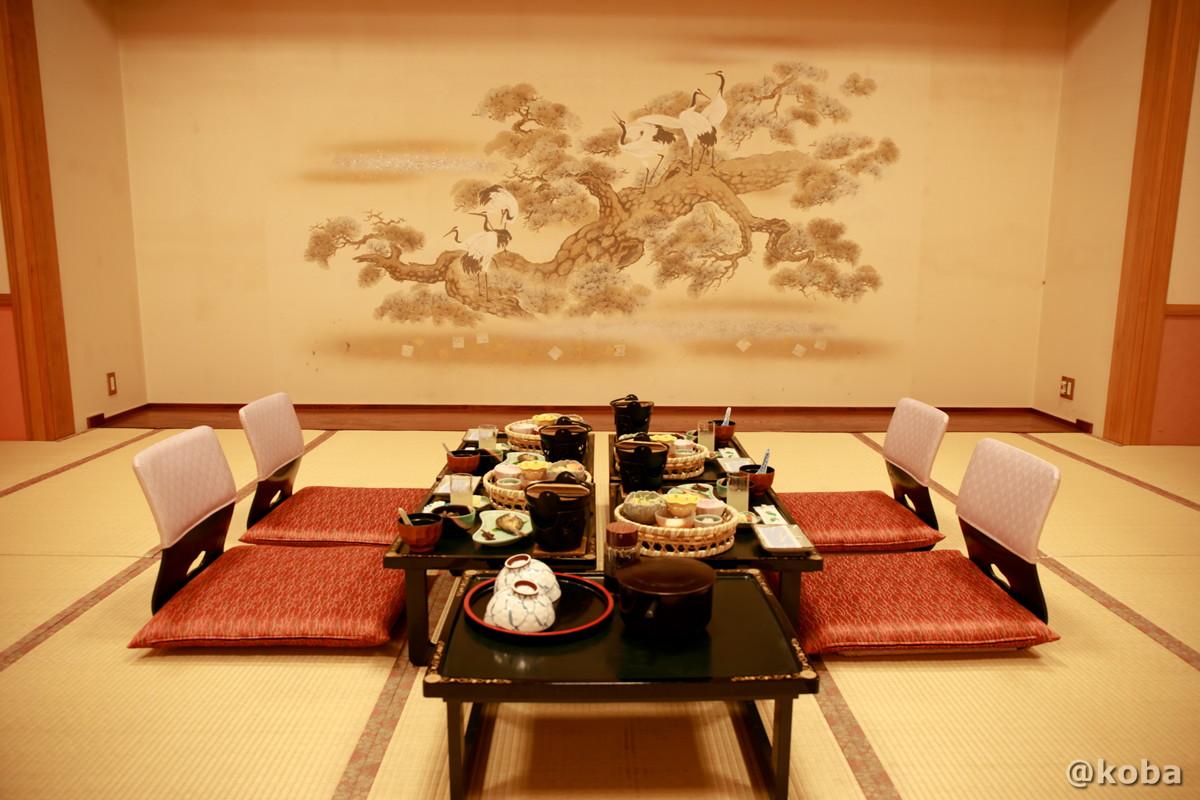 朝食 和室 広間の写真│たんげ温泉 美郷館(みさとかん)│群馬県 吾妻郡