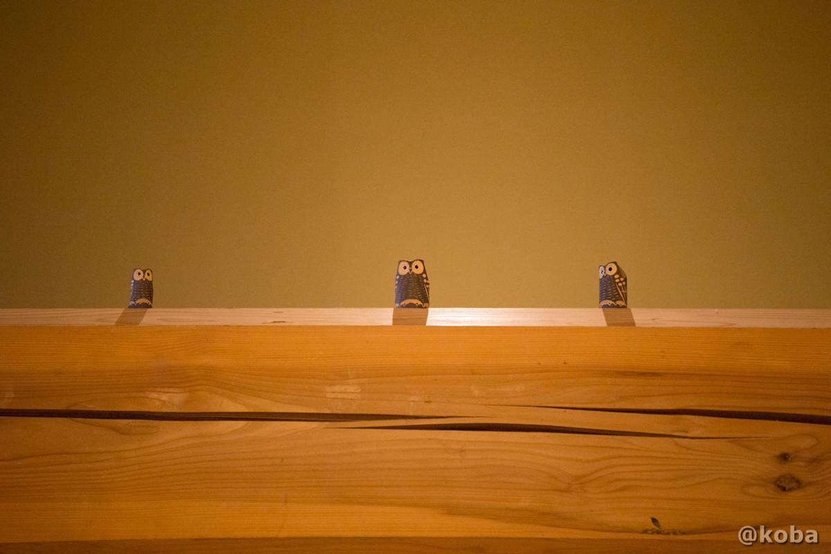 木製フクロウの写真│たんげ温泉 美郷館(みさとかん)│群馬県 吾妻郡