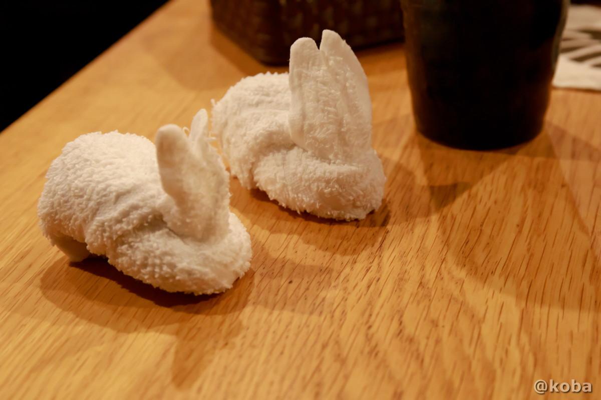 おしぼりアート ウサギ