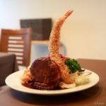 大きなエビフライ!ハンバーグとエビフライの盛り合わせ│洋食工房ヒロ(ようしょくこうぼうひろ) 洋食ランチ│東京都葛飾区・立石 ブログ